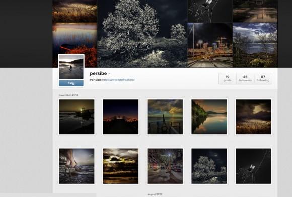 Min side på Instagram