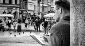 Kunstneren i Krakow (Foto: Per Sibe)